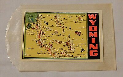 Vintage Wyoming State souvenir travel decal window sticker FREE SHIPPING