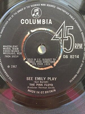 The Pink Floyd See Emily Play 45 On Columbia