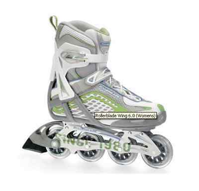Rollerblade Wing 6.0 Women's Inline Skates Green UK 5.5