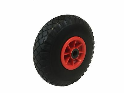 """PU 10"""" PLASTIC Puncture proof solid Trailer truck trolley Wheel 3.00-4 20MM BORE"""