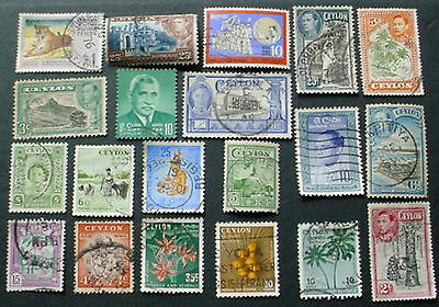Ceylon / Sri Lanka : Collection Of 20 Used Stamps: Lot 2