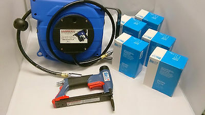 BeA 71/16 436 LN AIR STAPLER WITH AUTO HOSE REEL & STAPLES