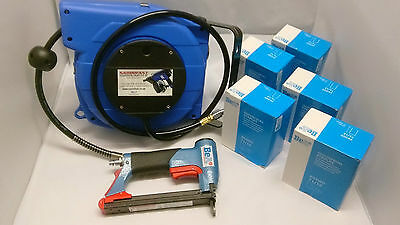 BeA 71/16 421 AIR STAPLER FOR 71 SERIES STAPLES WITH AUTO HOSE REEL & STAPLES