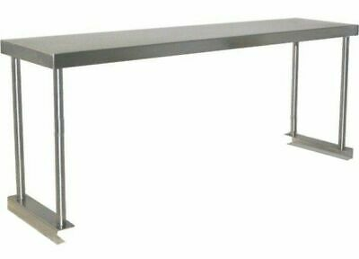 Commercial Kitchen Stainless Steel Single Over Shelf For Prep Tables 1500mm