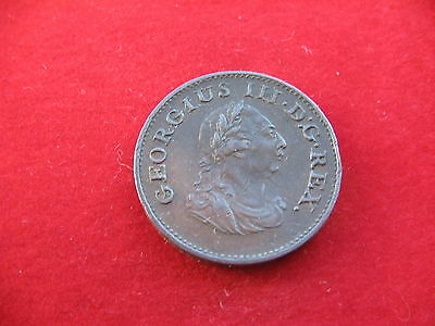 Hibernia 1806 King George Iii Copper Soho Farthing High Grade  Free Uk Post