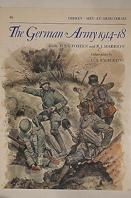 WW1 The German Army 1914-18 Men At Arms 80 Osprey Reference Book