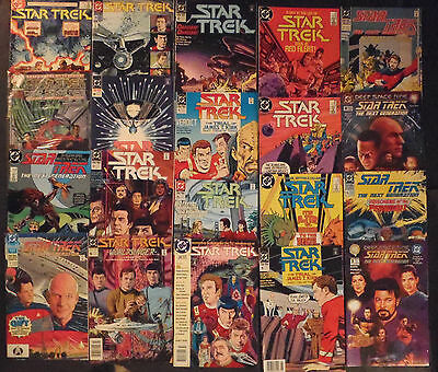 Star Trek...X-large lot of 27 DC & Malibu comic books