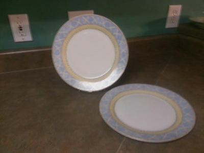 Set Of 2 Dinner Plates Enchanted Garden Fine China- Heritage Mint