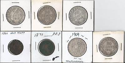Canada Newfoundland, P.e.i. And N.s. Coins  7 Coins With Varied Dates