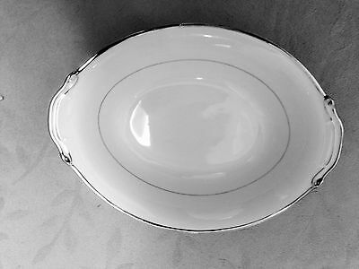 """PLATINUM edge Oval Vegetable BowL lHarmony House Japan """"Silver Melody"""""""