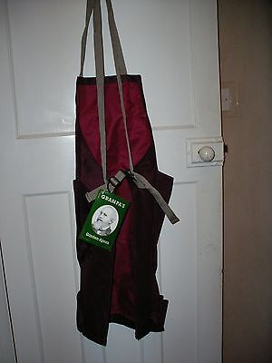Gardening Apron, one size, 100% polyester, unused, fun Xmas present **Reduced**