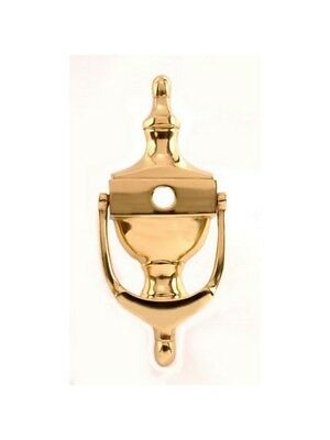 UAP 6 Inch Victorian Urn Knocker with Viewer Cut Out White Gold Chrome