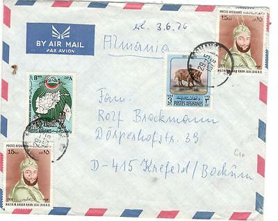 a19 Afghanistan  cover to Germany