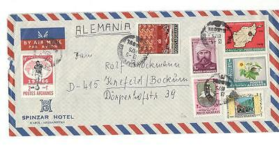 a20 Afghanistan  cover to Germany 13-5-1975