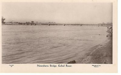 a23 Afghanistan postcard of Nowshera Bridge Kabul river unused