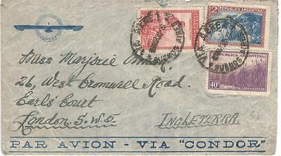 a34 Argentina Airmail cover to England