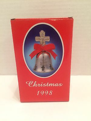 International Silver Co. Christmas 1998 Silverplated Engraved Bell - New In Box