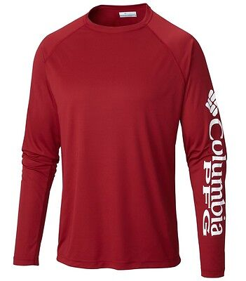 "New Mens Columbia PFG ""Terminal Tackle"" Omni-Shade Wick T-Shirt Top Tee Polo"