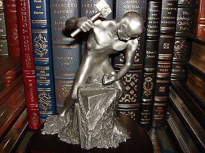 Masonic  Solid Pewter Statue Limited Edition signed by Artist