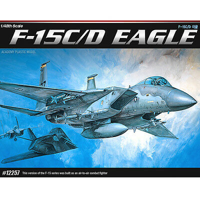 Academy 1/48 F-15 C/D EAGLE Plastic Model Kit Army Airplanes 1685 #12257