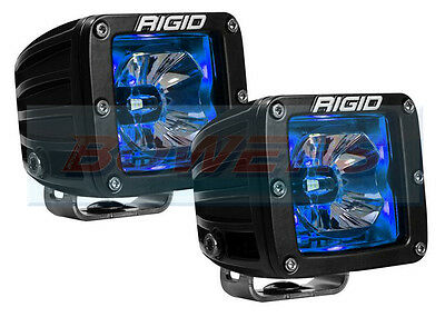 "Pair Of Rigid Industries Radiance 20201 12V 3"" Led Pods With Blue Back Lighting"