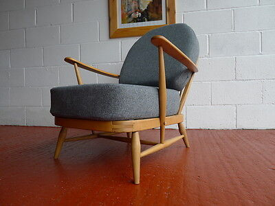 Cushions & Covers Only. Ercol 203 Chair. Mid Grey Stitch