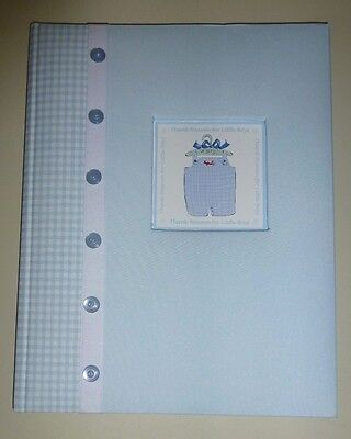 Stepping Stones Book of Baby Days Blue Gingham Thank Heaven for Little Boys  HB