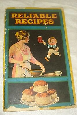 Advertising CALUMET BAKING POWDER RELIABLE RECIPES BOOKLET 1920s 82 Pages