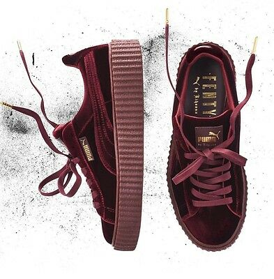 Rihanna Fenty x Puma Creepers Velvet Purple Burgundy Size 5-10 LIMITED IN HAND