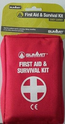 First Aid Survival Kit Including Torch & Whistle - Summit :Medical Emergency NEW