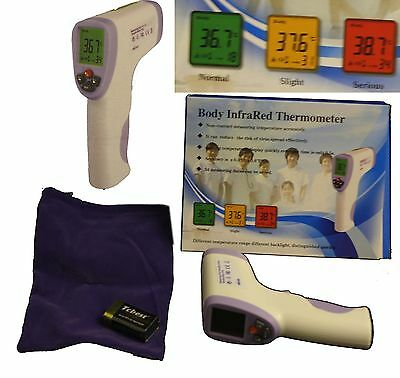 Digital LCD Non-Contact Baby IR Infrared Laser Body Thermometer Forehead Gun UK