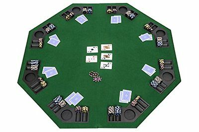 Octagonal Folding Poker Table Top with Carry Bag – For Tables 120cm