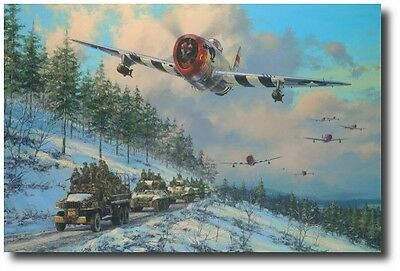 Thunder in the Ardennes by Anthony Saunders - P-47 - Battle of the Bulge