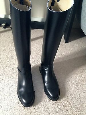 Regent Black Leather Riding Boots Size 6 With Boot Bag
