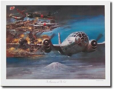 The Beginning and the End by Tony Fachet - Aviation Art - B- 29 Superfortress