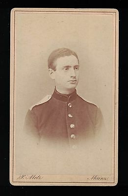 Handsome Soldier In Uniform From Mainz Germany c 1885 CDV