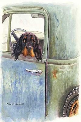 """Gordon in a 55"" A Limited Edition Gordon Setter Print"
