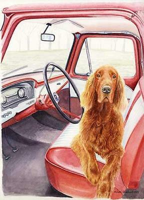 """Not Without Me"" A Limited Edition Irish Setter Print"