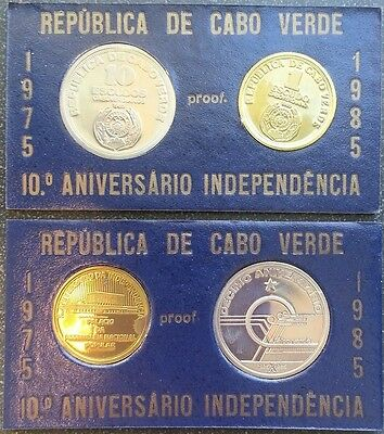 CAPE VERDE 1985 1 + 10 ESCUDOS PROOF 10 YEARS INDEPENDENCE Very Rare
