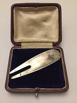 Sterling Silver Pitch Mark Tool, Pitch Fork, Gift Box.