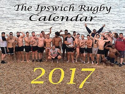 The Ipswich Rugby Charity Calendar 2017- Naked/ Nude Rugby Hanging Wall Calendar