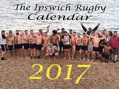 The Ipswich Rugby Charity Calendar 2017- Naked/ Nude Rugby Lads- Desk Calendar