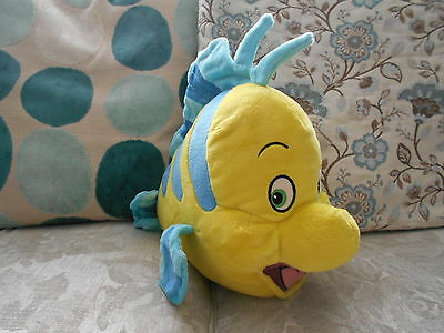 FLOUNDER large plush beanie soft toy THE LITTLE MERMAID Disney Store Exclusive