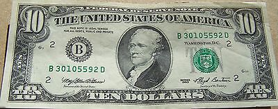 1993 Circulated $10.00 Dollar Federal Reserve Note