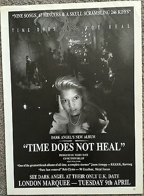 DARK ANGEL - TIME DOES NOT HEAL 1991 full page UK press ad