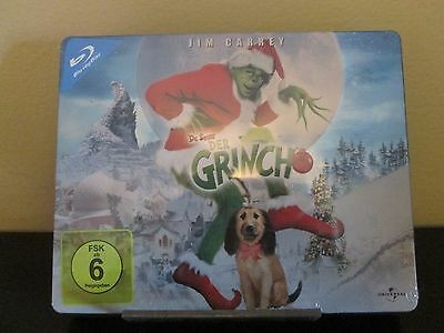 Rare Dr. Seuss How the Grinch Stole Christmas Blue-Ray Steelbook Region Free Jim
