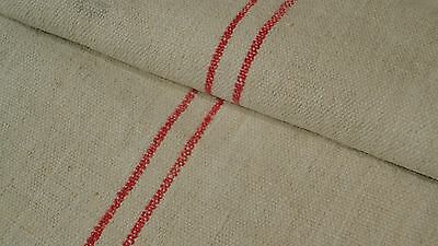Antique European Feed Sack GRAIN SACK Red Stripe # 7939