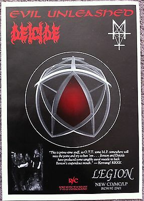 DEICIDE - LEGION 1992 full page press ad