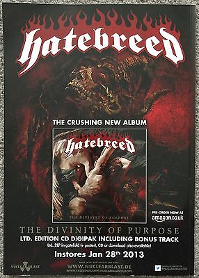 HATEBREED - THE DIVINITY OF PURPOSE 2013 full page UK press ad