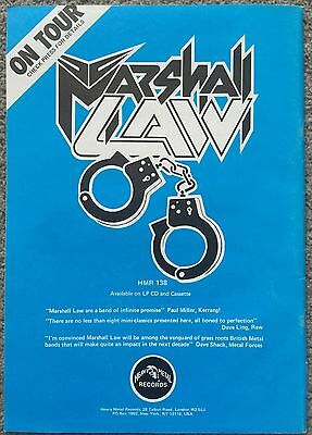 MARSHALL LAW -  1990 full page press ad poster